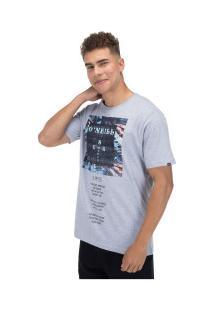 Camiseta O'Neill Estampada Cross - Masculina - Cinza