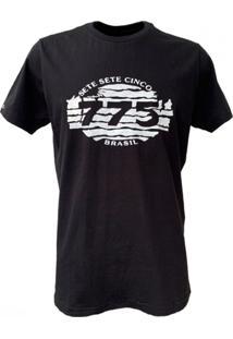 Camiseta 775 Retro Zebra - Preto