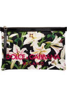 Dolce & Gabbana Clutch Com Estampa Lily - Verde