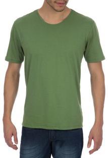 Camiseta Masculina Verde Lisa - 03