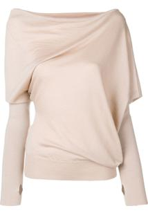 Tom Ford Asymmetric Knitted Blouse - Marrom