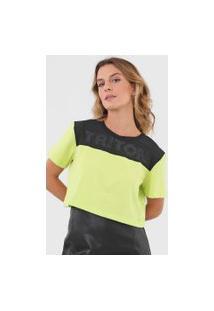 Camiseta Cropped Triton Aplicações Verde