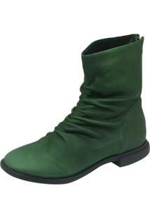 Bota S2 Shoes Cano Curto Verde Floresta