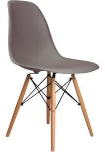 Cadeira Eames Eiffel Base Madeira Cinza
