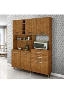Armário Para Cozinha 6 Portas 2 Gavetas Maria Siena Móveis Rovere