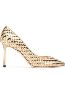c1eba28fec Sapato Bico Fino Dourado feminino