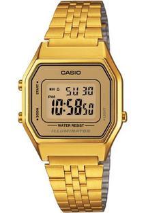 Relógio Casio Vintage La680Wga-9D - Feminino-Dourado