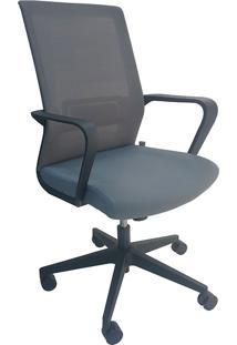 Cadeira Diretor Mko-028-Marka Móveis - Cinza