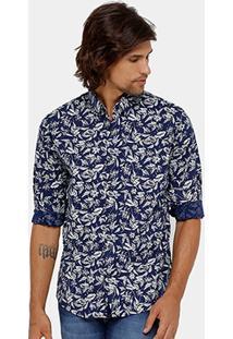 Camisa Colcci Estampada Masculina - Masculino