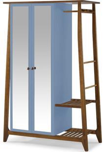 Armário Multiuso 2 Portas Stoka 982 Nogal/Azul Serenata - Maxima