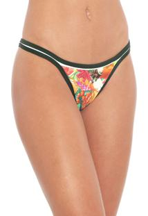 Calcinha Blue Man Tanga Dance Tropicana Verde/Off-White