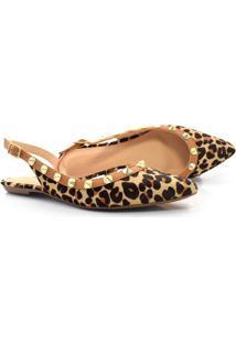 Sapato Chanel De Couro E Animal Print Suzzara