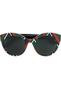 Gucci Eyewear Óculos De Sol Gatinho - Estampado