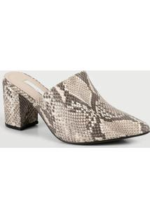 Scarpin Mule Feminino Estampa Animal Print Via Marte