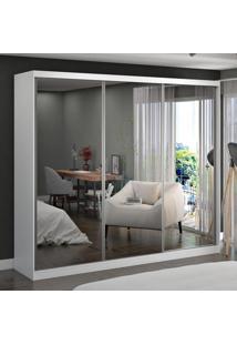 Guarda-Roupa Casal 3 Portas Com 3 Espelhos 100% Mdf 7318G4E3 Branco - Foscarini