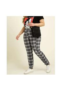 Calça Plus Size Feminina Estampa Xadrez