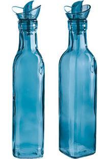 Jogo De Azeiteiro & Vinagreiro Colors- Azul- 2Pã§S