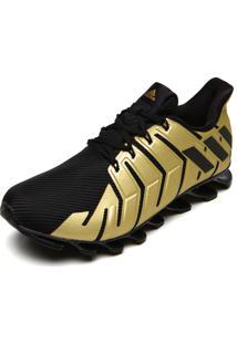 Tênis Adidas Performance Springblad Pro Preto/Dourado