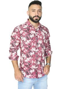 Camisa Slim Victor Deniro Vermelho Giardino