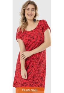 Vestido Vermelho Curto Estampado Wee!