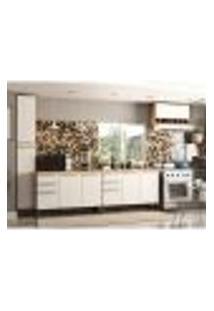 Cozinha Compacta Napoli Prime 9 Pt 4 Gv Castanho E Branca