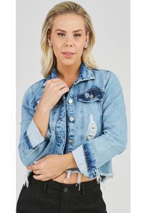 Jaqueta Jeans Express Andy Lauper Azul - Azul - Feminino - Dafiti