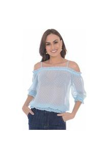 Blusa Poa Love Poetry Azul