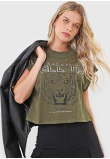 Camiseta Colcci Tell Me Verde