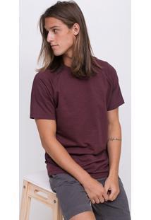 Camiseta Básica Com Manga Raglan