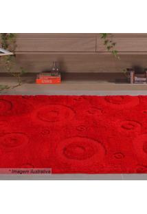 Tapete Jazz Geomã©Trico- Vermelho- 200X150Cm- Oasoasis