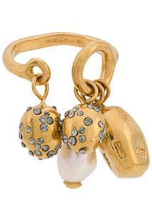 Givenchy Pendant Ring - Dourado