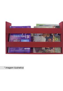 Porta Livros & Revistas- Vermelho Escuro- 30X50X11Cmkapos