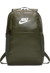 Mochila Nike Brasília M 9.0 - 24 Litros - Unissex-Musgo