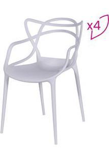 Or Design Jogo De Cadeiras De Jantar Solna Branco 4Pã§S