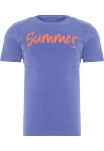 Camiseta Masculina Stone Summer - Azul