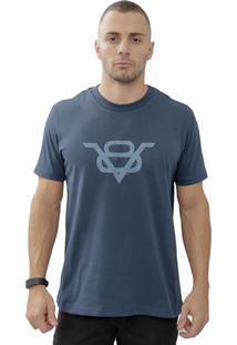 Camiseta Cheiro De Gasolina V8 Azul Marinho