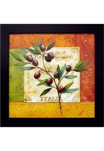 Quadro Olives I Imbuia 35X35 Cm Kapos
