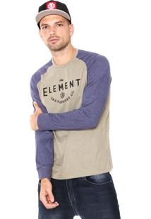 Camiseta Element Skateboard Co Azul-Marinho