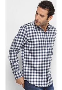 Camisa Xadrez Broken Rules Vichy Flanelada Masculina - Masculino