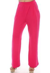 Calça Pantalona Roberta B?Bonnie - Feminino-Pink