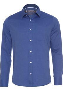 Camisa Masculina Sarjada - Azul