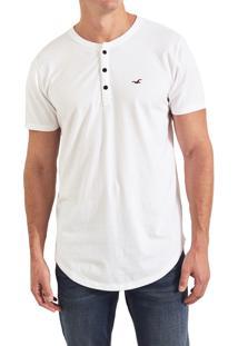 Camiseta Manga Curta Hollister Básica Branca