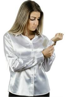 Camisa Pimenta Rosada Aniela - Feminino-Branco+Dourado
