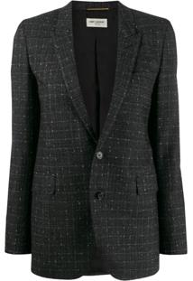 Saint Laurent Blazer De Tweed - Preto