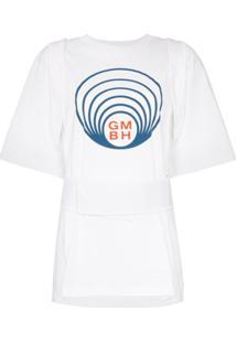 Gmbh Camiseta Com Detalhe De Cinto - Branco