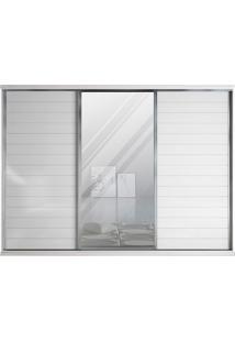 Guarda-Roupa 3 Portas De Correr Com Espelho, Branco, Donato