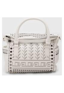 Bolsa Desigual Hand Bag Azabache Branca