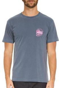 T-Shirt Osklen Stone Open Air Concert Masculina - Masculino-Azul