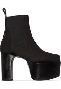 Rick Owens Black Kiss 125Mm Open-Toe Ankle Boots - Preto