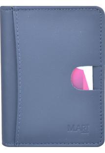 Carteira M.Art Slim Pelica 212M Azul-Marinho